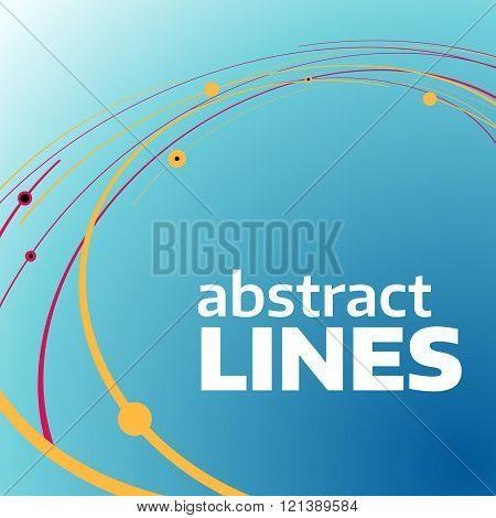 Vector circle abstract lines.