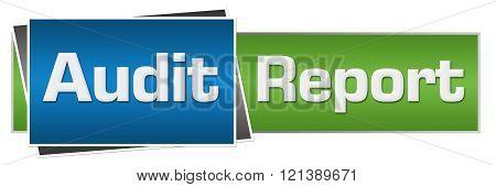 Audit Report Green Blue Horizontal