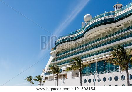 Curved Glass Over Balconies on Luxury Cruise Ship