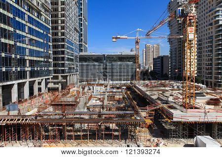 New skyscraper Construction site