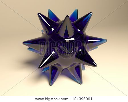 Abstract blue glass object