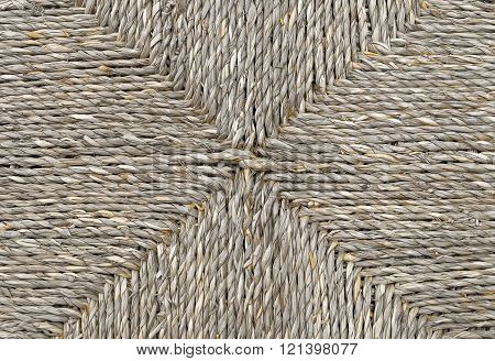Closed Up Of Square Texture Of Basket Weave Pattern