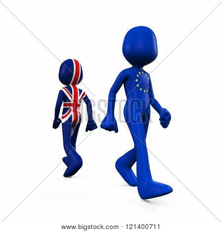 Great Britain and European Union Character