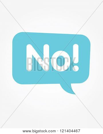 Vector 'No' Communication Speech Bubble