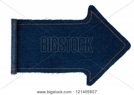 Arrow Made From A Denim With Wrapped Edges