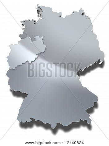Nordrhein-Westfalen 3d map