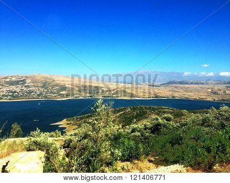 Lebanese landscape, Bekaa Valley Beqaa (Bekaa) Valley, Baalbeck, Lebanon