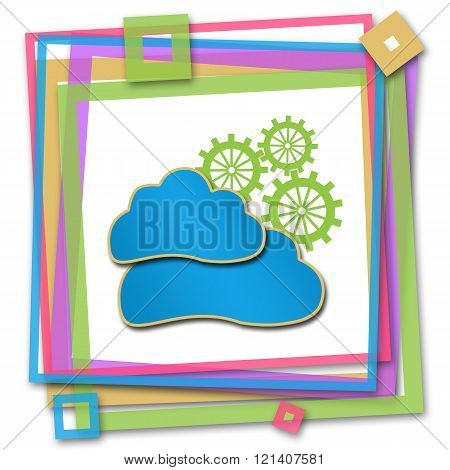 Cloud Computing Colorful Frame