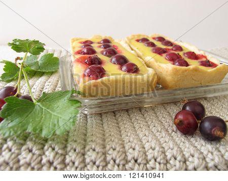 Jostaberry tartlet cake