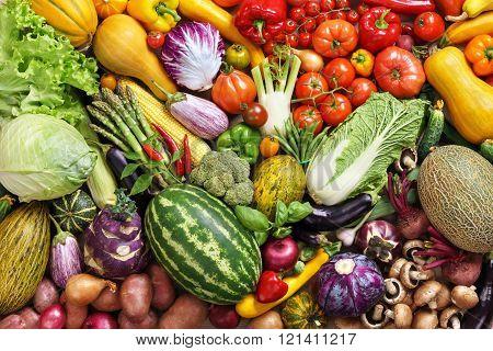Organic food background.