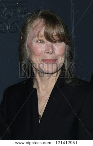 LOS ANGELES - MAR 1: Sissy Spacek attends the Premiere of Broad Green Pictures' 'Knight of Cups'  at The Theatre at Ace Hotel on March 1, 2016 in Los Angeles, California