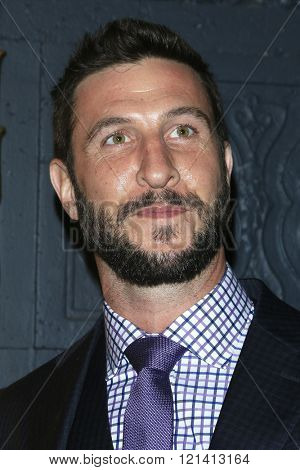 LOS ANGELES - MAR 1: Pablo Schreiber attends the Premiere of Broad Green Pictures' 'Knight of Cups'  at The Theatre at Ace Hotel on March 1, 2016 in Los Angeles, California
