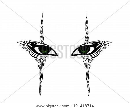 Abstract human eyes - vector illustration.