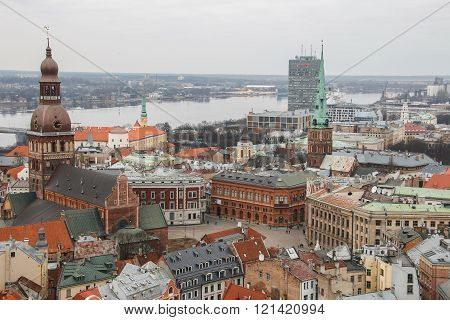 View At Riga From The Tower Of Saint Peters Church, Riga, Latvia