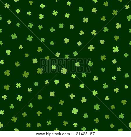 Green seamless pattern for St. Patricks day.