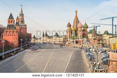 Area Vasilevsky Descent In Moscow.