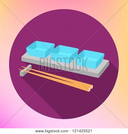 soy sauce gravy boat chopsticks