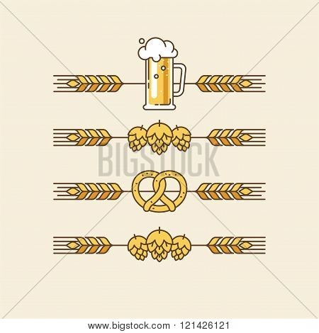 Beer Festival Beer Party Beer Menu Linear Elements for Banners Flyers and Other Types of Design