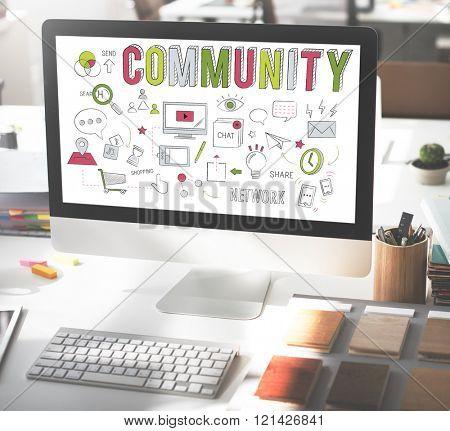 Community Society Sharing Communication Belonging Concept