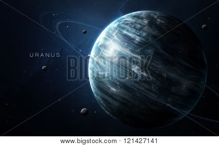 Uranus - High resolution 3D images presents planets of the solar system. This image elements furnish