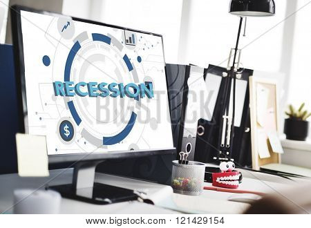 Recession Bankrupt Economic Analysis Finance Concept