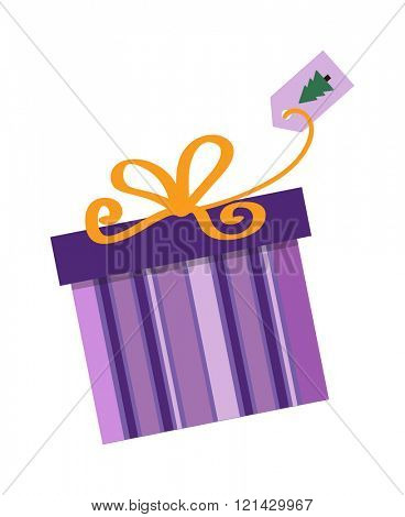 Gft box with ribbon vector. Gift box on white background. Gift box decoration. Gift box surprise. Gift box package design. Gift box vector birthday decoration.