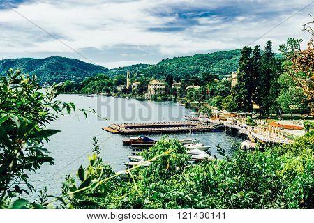 Lake Como in Italy , Lombardia, Italy, mediterranean
