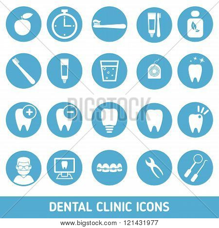 Set Of Dental Clinic Icons.