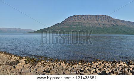 Lake Panorama On The Putorana Plateau.