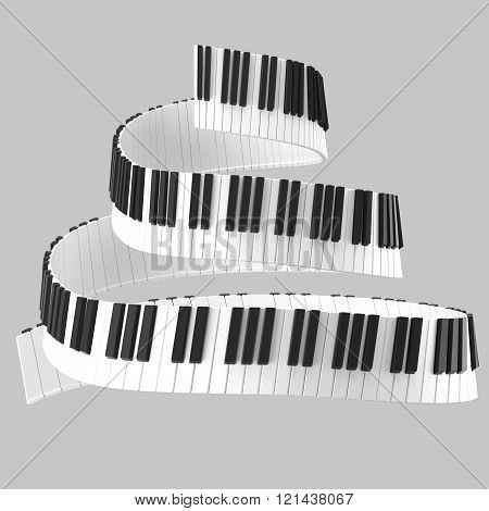 Black And White Piano Keyboard