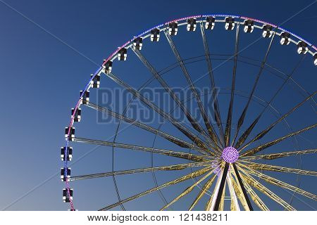 Big wheel in the city of Paris Ile-de-france France