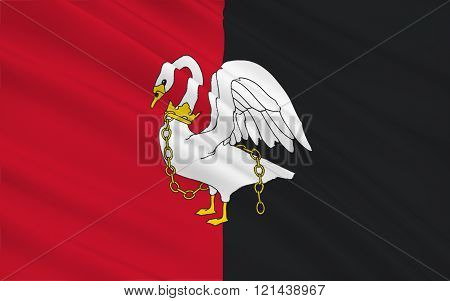 Flag Of Buckinghamshire Is A Ceremonial County, England