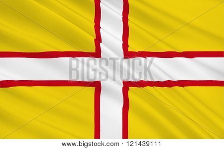 Flag Of Dorset Is A County, England