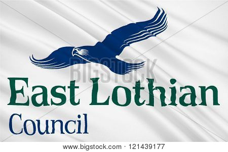 Flag Of East Lothian Council Of Scotland, United Kingdom Of Great Britain