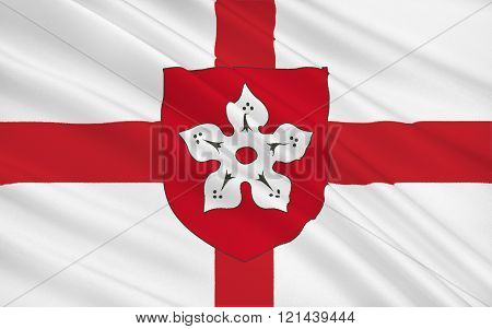 Flag Of Leicester Is A City And Unitary Authority Area, England