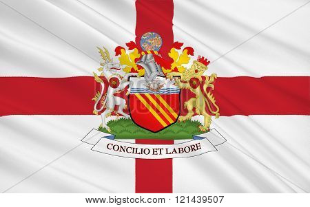 Flag Of Manchester City, England