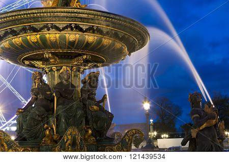 Fontaine des Mers Concorde square Paris Ile de France France