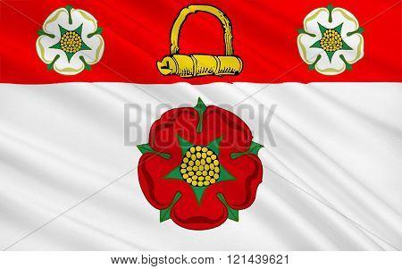 Flag Of Northamptonshire County, England