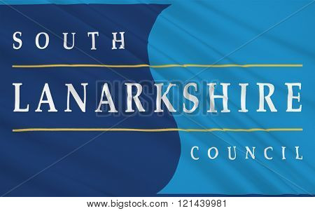 Flag Of South Lanarkshire Is Unitary Authorities Of Scotland, United Kingdom Of Great Britain