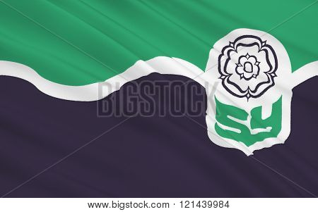 Flag Of South Yorkshire County, England