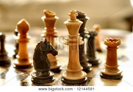 a piece of chess-board