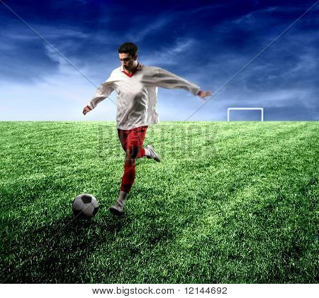 a soccer player