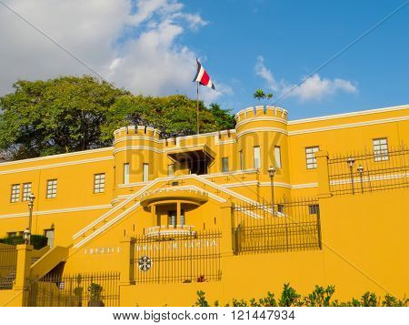 SAN JOSE, COSTA RICA - March 3: National Museum of Costa Rica, located in Bellavista Fortress originally used as military barracks. March 3, 2016 in San Jose.