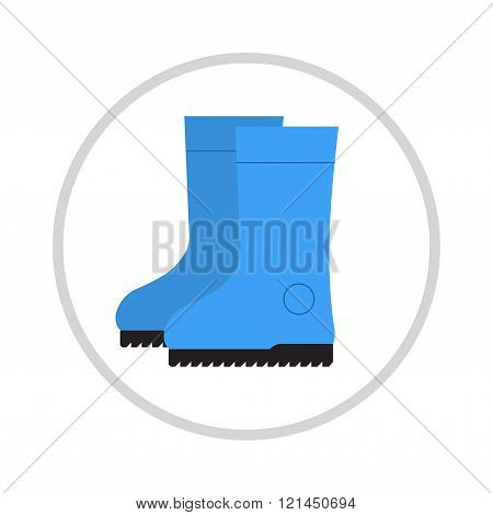 Insulated boots, shoes, cartoon, illustration.