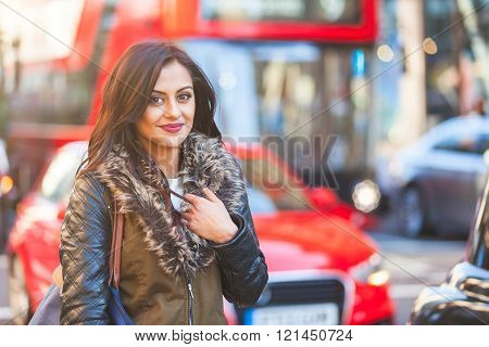 Indian Woman Portrait In London