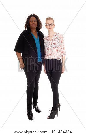 Two Woman Standing Together.