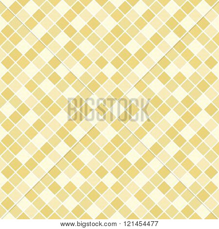 Seamless pattern made of beige to tan (dark yellow to brown) rhombuses with white lining