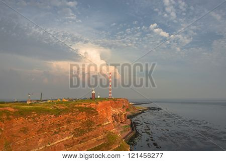 Beautiful Sunset At Helgoland, German Paradise Islands In North Sea, Summer Time
