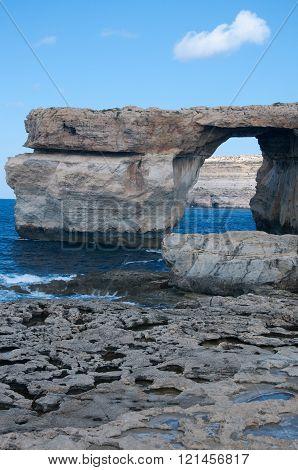 The famous blue window Dwejra on the island of Gozo Malta
