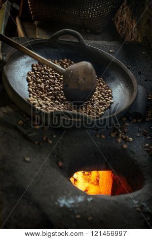 Balian coffee roasted in a traditional way